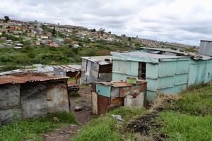 Photo of toilets in informal settlement