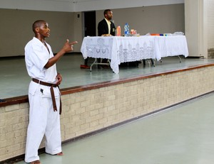 Photo of a man in karate clothes