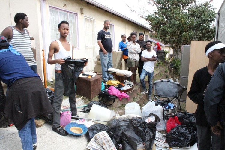 Photo of Howell Road evictees