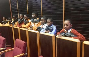 Photo of children in court