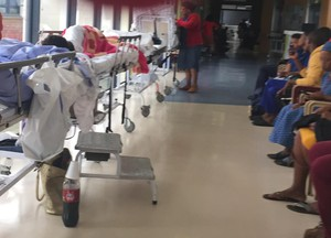 Photo of patients lying on beds at Edendale Hospital