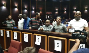 Photo of the accused in the Glebelands trial