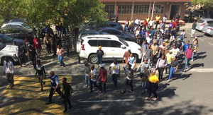 Photo of UWC protest