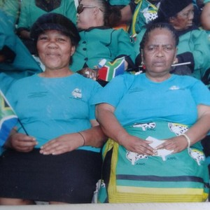 Photo of two women in ANC colours