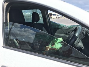 Photo of smashed car