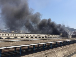 Photo of burning train