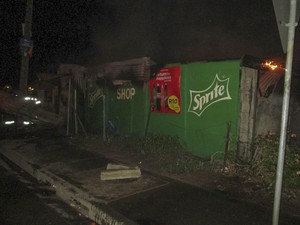 Photo of burned spaza shop