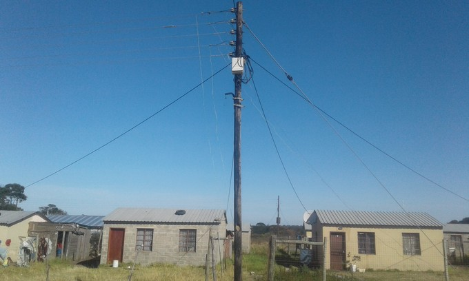 Photo of electricity pole with illegal connections