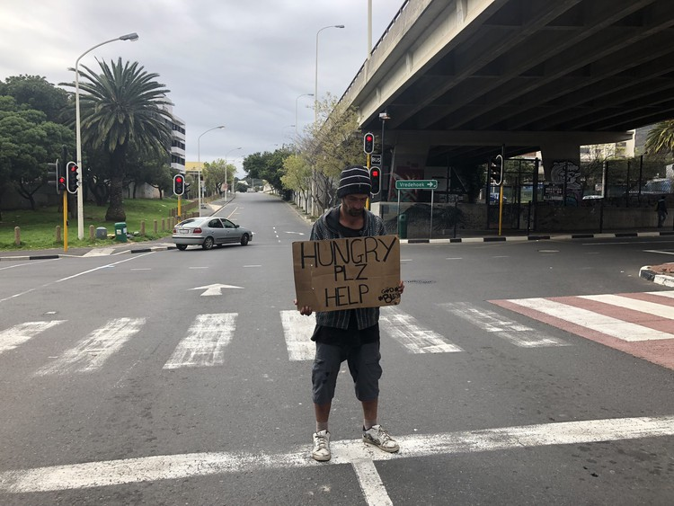 Photo of homeless man