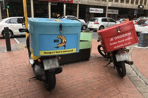 Photo of food delivery vehicles