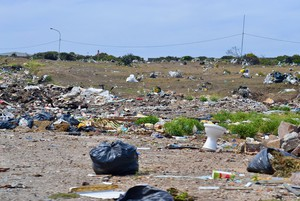 Photo of a field full of rubbish