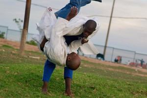 Photo of judo practise