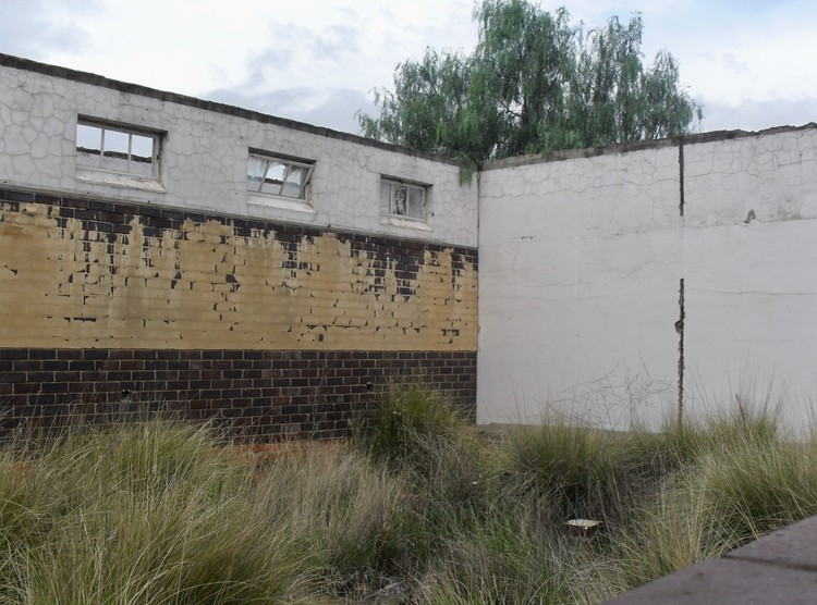 Photo of incomplete classroom builidng