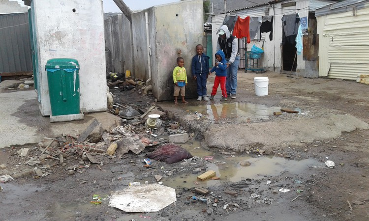 Photo of blocked toilets in Masiphumelele