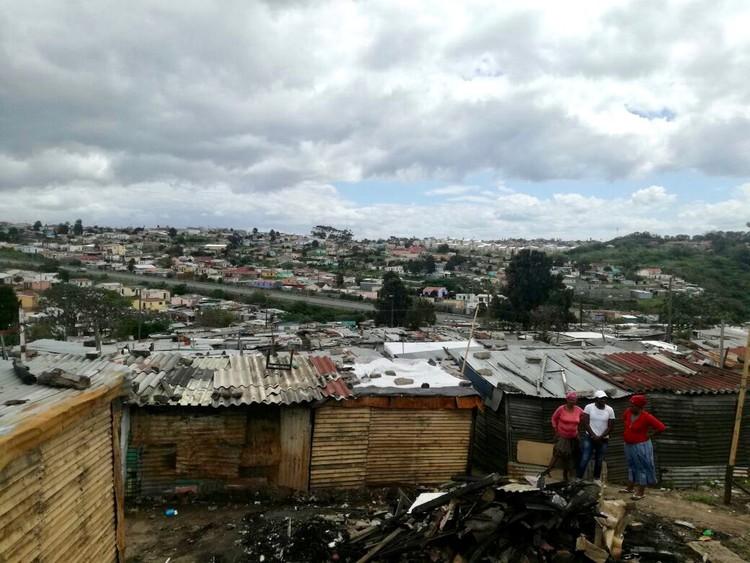 Photo of shacks