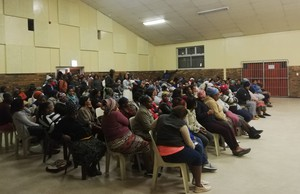 Photo of Masiphumelele community meeting