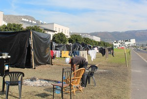 Photo of tents outside Steenvilla