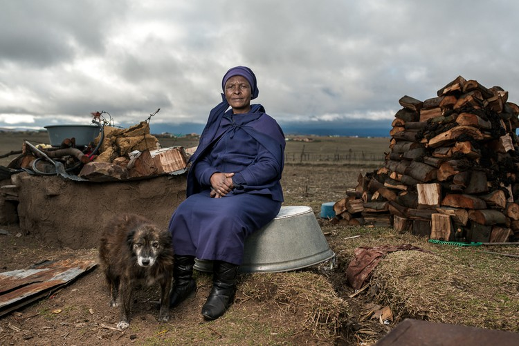 Photo of woman and dog