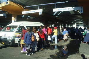 Photo of queue at taxi rank