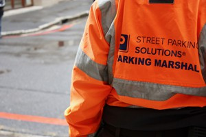 Photo of a parking marshal jacket