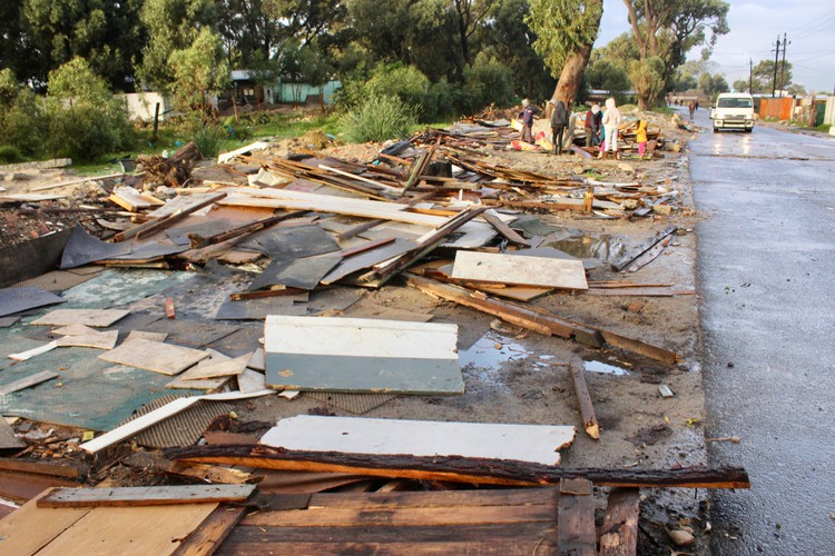 Photo of debris by a roadside