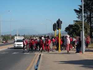 photo of protesting learners