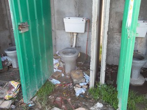 Photo of filthy toilet