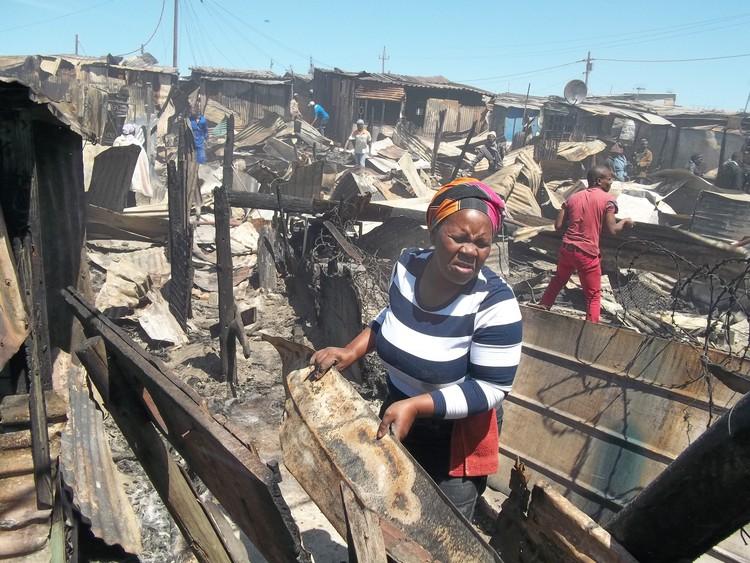 Photo of Khayelitsha fire