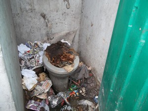 Photo of blocked toilet