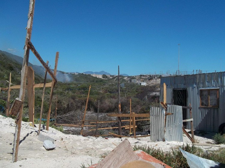 Photo of shack under construction