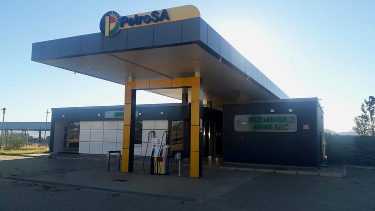 Photo of a petrol station