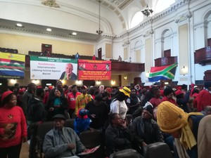 Photo of rally at Johannesburg City Hall