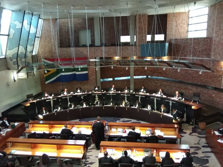 Photo of constitutional court in session