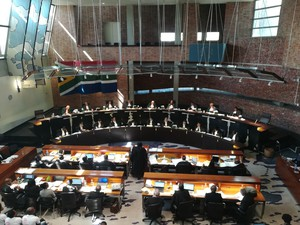 Photo of inside Constitutional Court