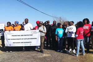 Photo of protest at Lindela
