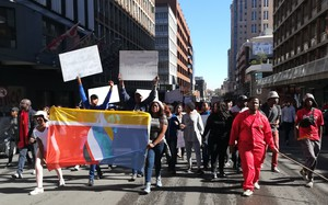 Photo of protesting workers