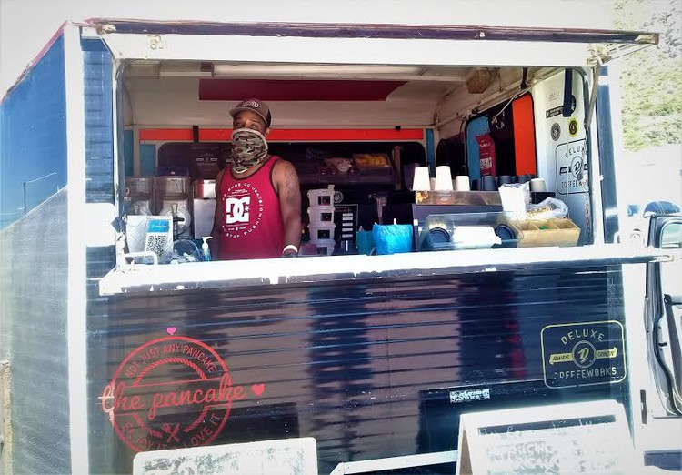 """Quinton Abrams at The Pancake said business was """"really good"""" on Tuesday. Photo: Marecia Damons"""