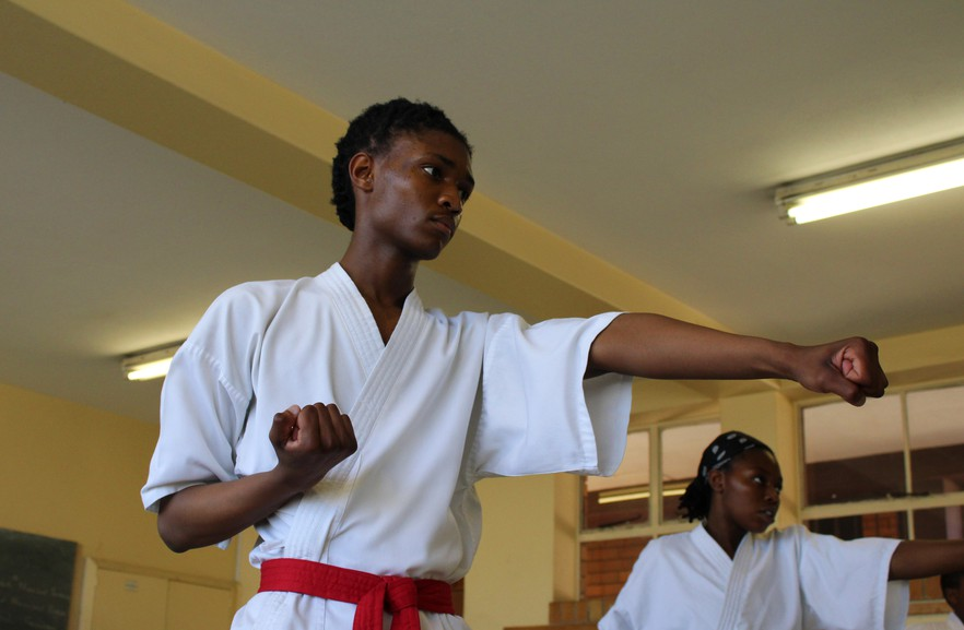Student Boipelo Mongale, 16, says he joined Orlando West Karate Development Academy a year ago after a health scare.