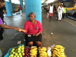 Picture of food trader at station