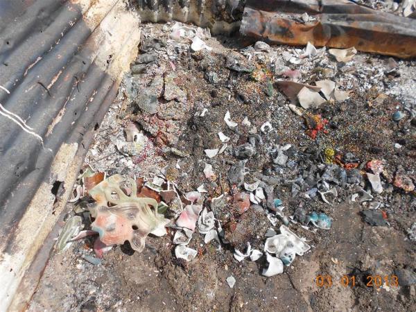 Ruins of Ntombi's dining room. Photo by Faizel Slamang.