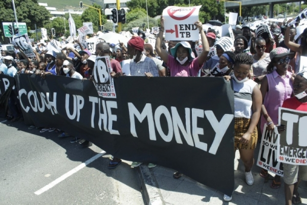 Photo of march for more money to fight TB