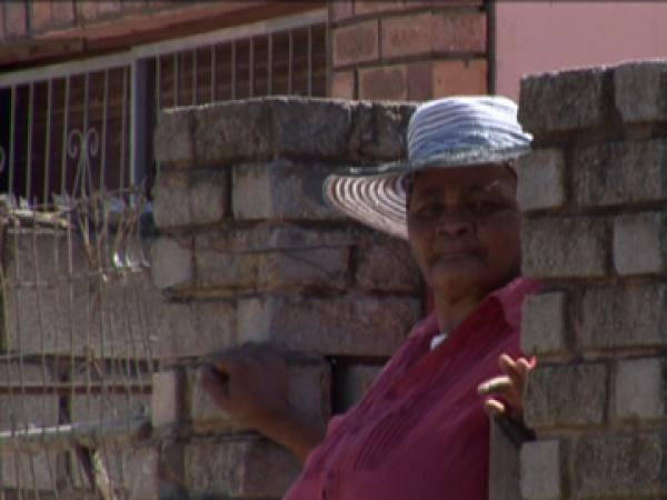 Nondleko Ethel Manyike, a fire survivor.