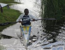 Sandiso Nomsobo and other canoeists are popularising the sport in Khayelitsha. Photo by Siyabonga Kalipa.