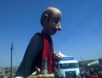 Puppet at the Soweto carnival. Photo by Ayanda Mqilingwa.