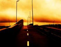 The Langa bridge near the N2 at night. Photo by Andiswa Mkosi.