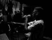 Sonwai Amathongo Mhlonyane performing at Ragazzi Live Bar. Photo by Andiswa Andy Mkosi.