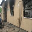 The burnt out house of ward councillor Mzuzile Mpondwana. Photo by Nombulelo Damba.