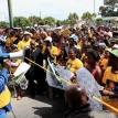Mzawuhlalwa Dlala reads out residents' list of demands. Photo by Masixole Feni.