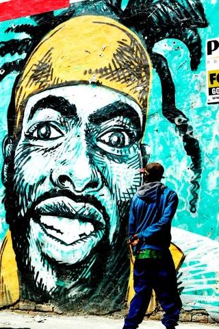 A mural on Albert Road, Woodstock. Photo by Masixole Feni.
