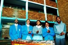 From left to right: Bonga Hatana, Busisiwe Maswana, Busiswa Zingitwa, Nombuyiselo Gina and Unathi Makhambi from Chris Hani High who will be going to Sweden during October.